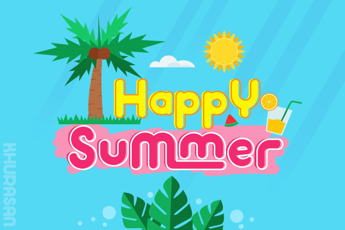 Hi Summer Layered Font example image 3