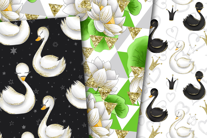 Swans digital paper example image 2
