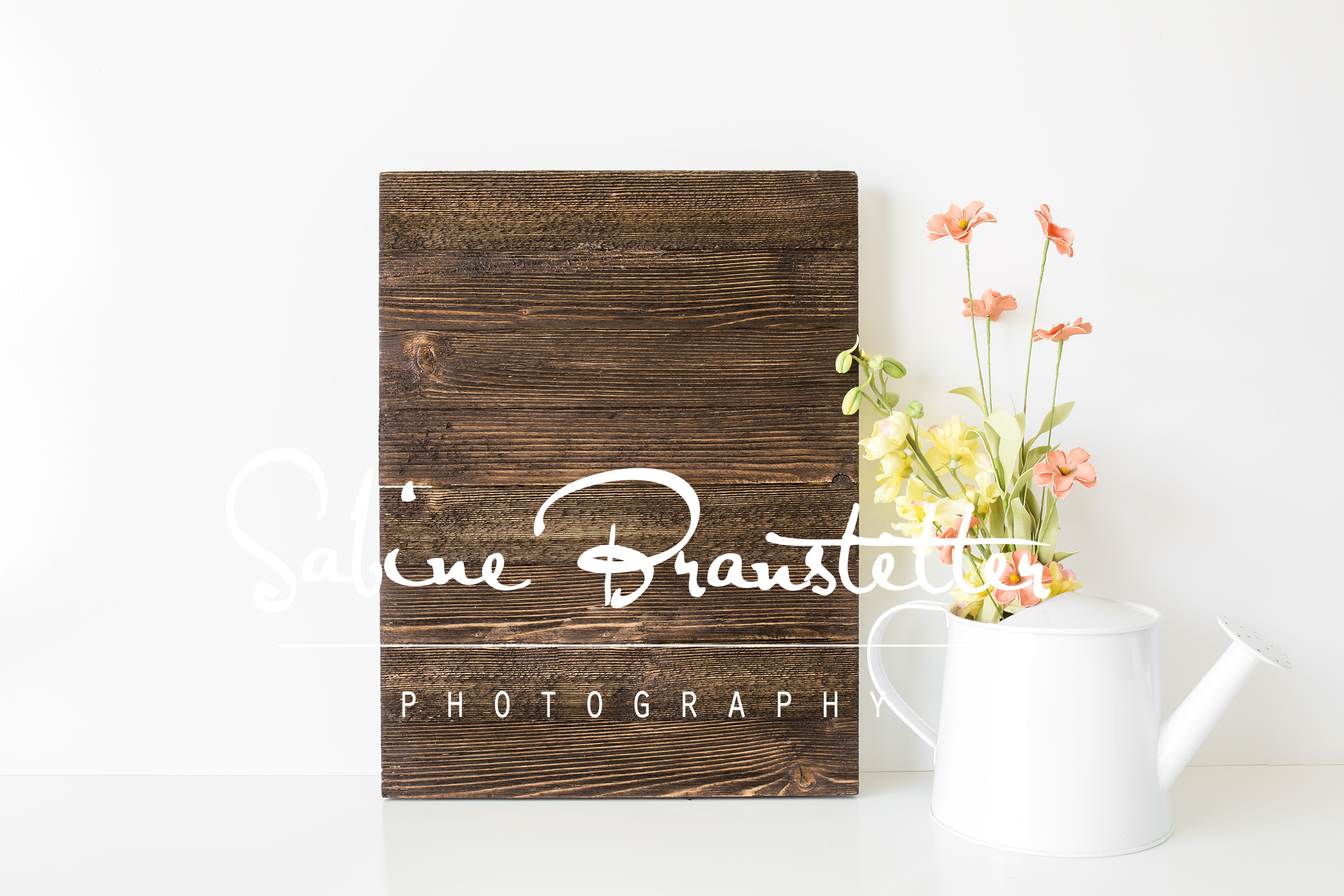 Styled Stock Photography Rustic Vertical Wood Sing Mockup example image 1