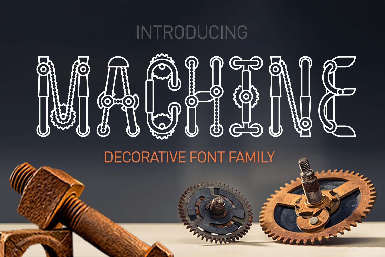 Machine font family example image 1