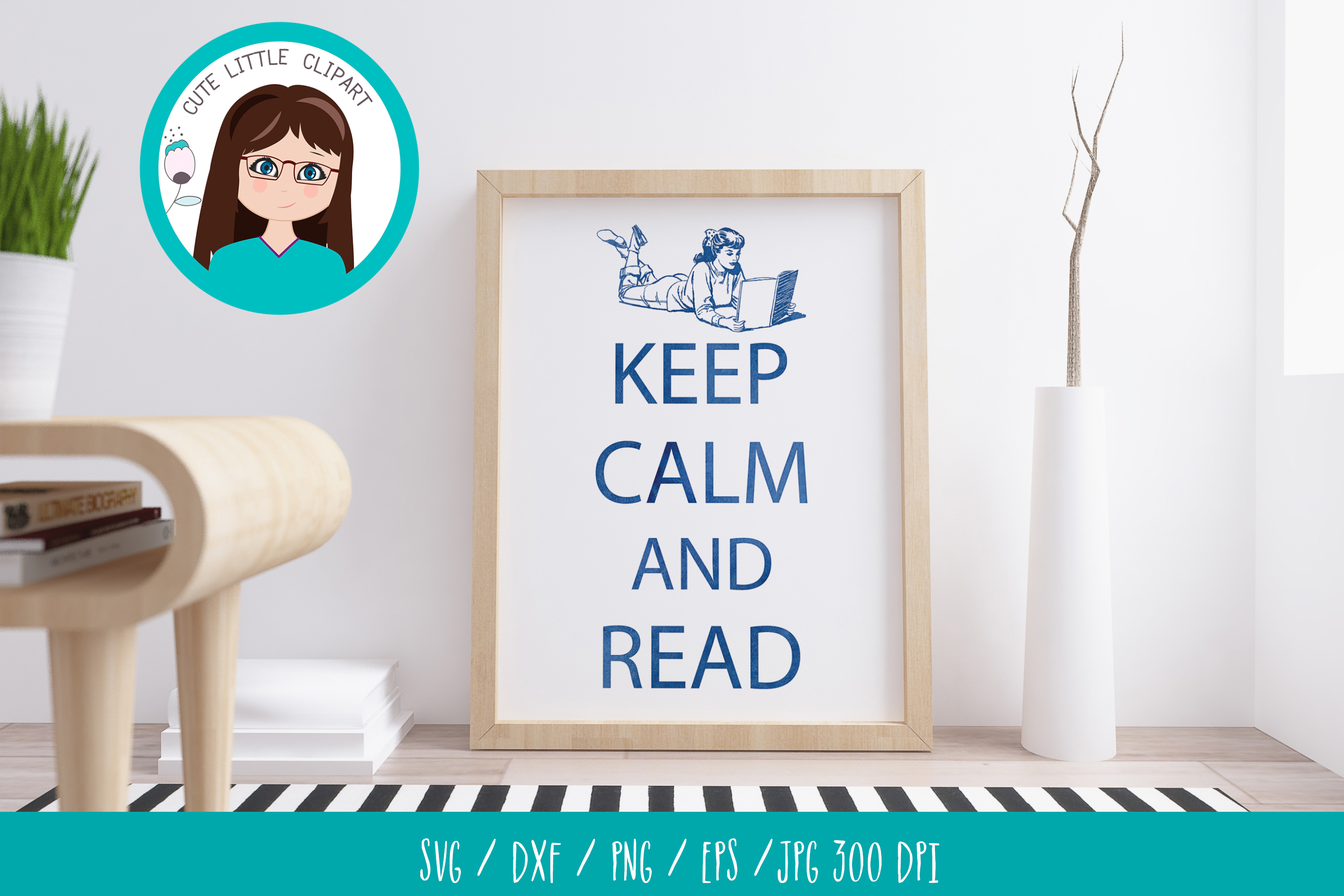 Keep Calm and Read svg example image 2