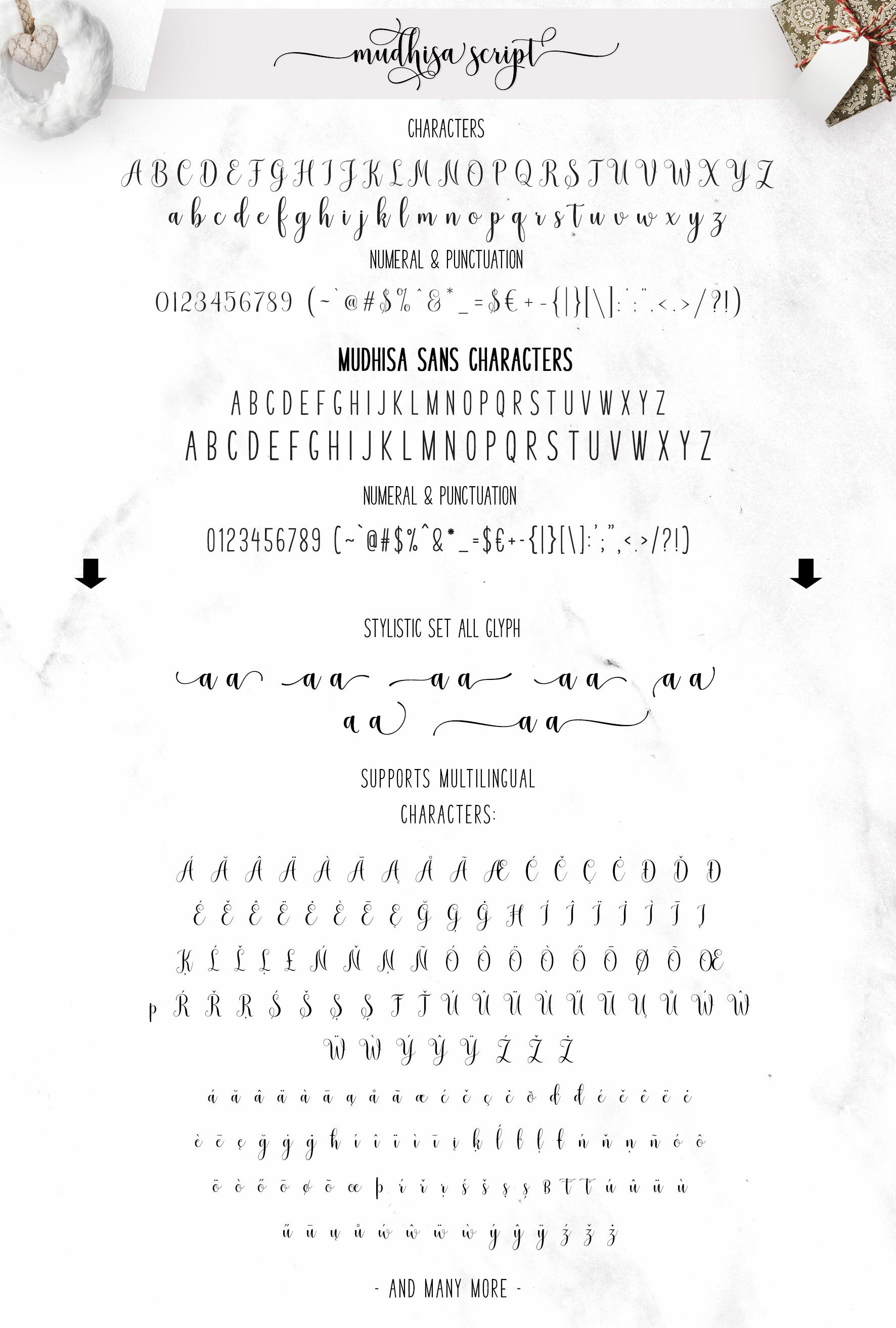 Mudhisa Script Font Trio example image 6