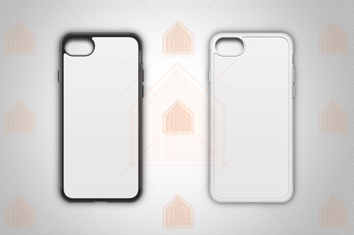 iPhone 8 2d Rubber Flex Case Design Mockup Back example image 2