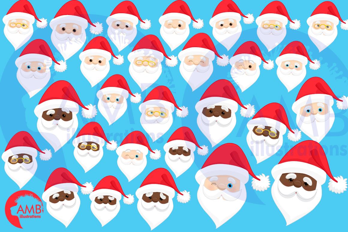 Santa claus emoji, Santa claus emoticons, AMB-2697 example image 3
