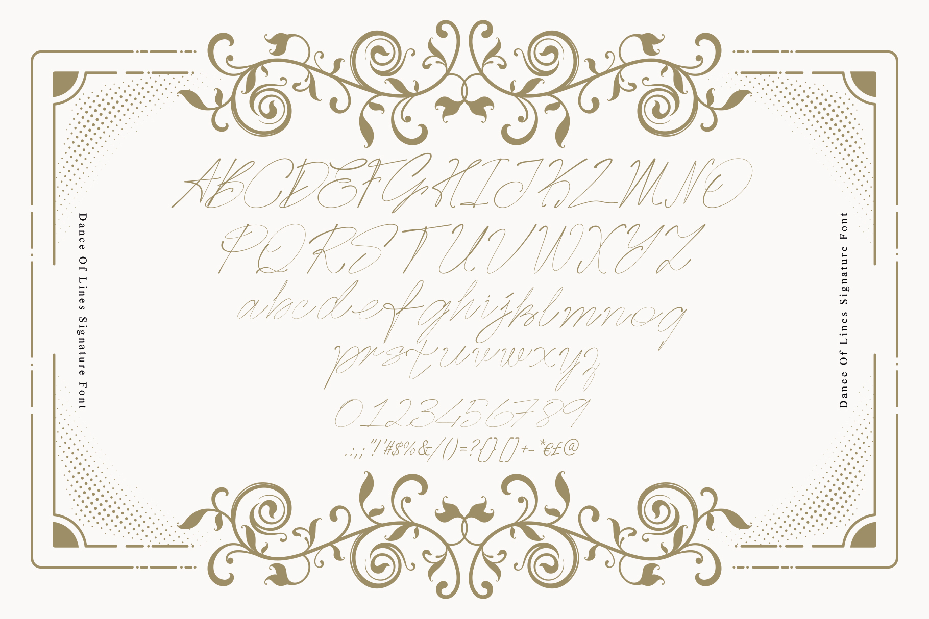 Dance Of Lines Signature Font example image 10