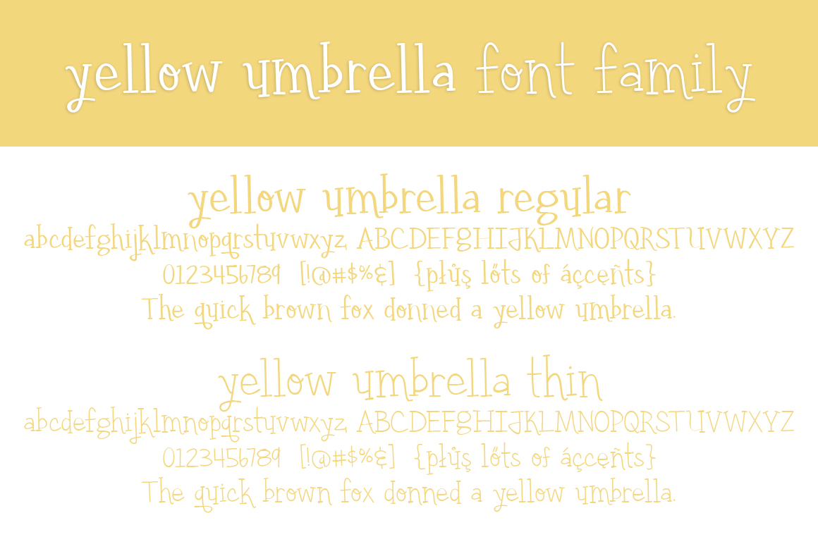 Yellow Umbrella example image 2