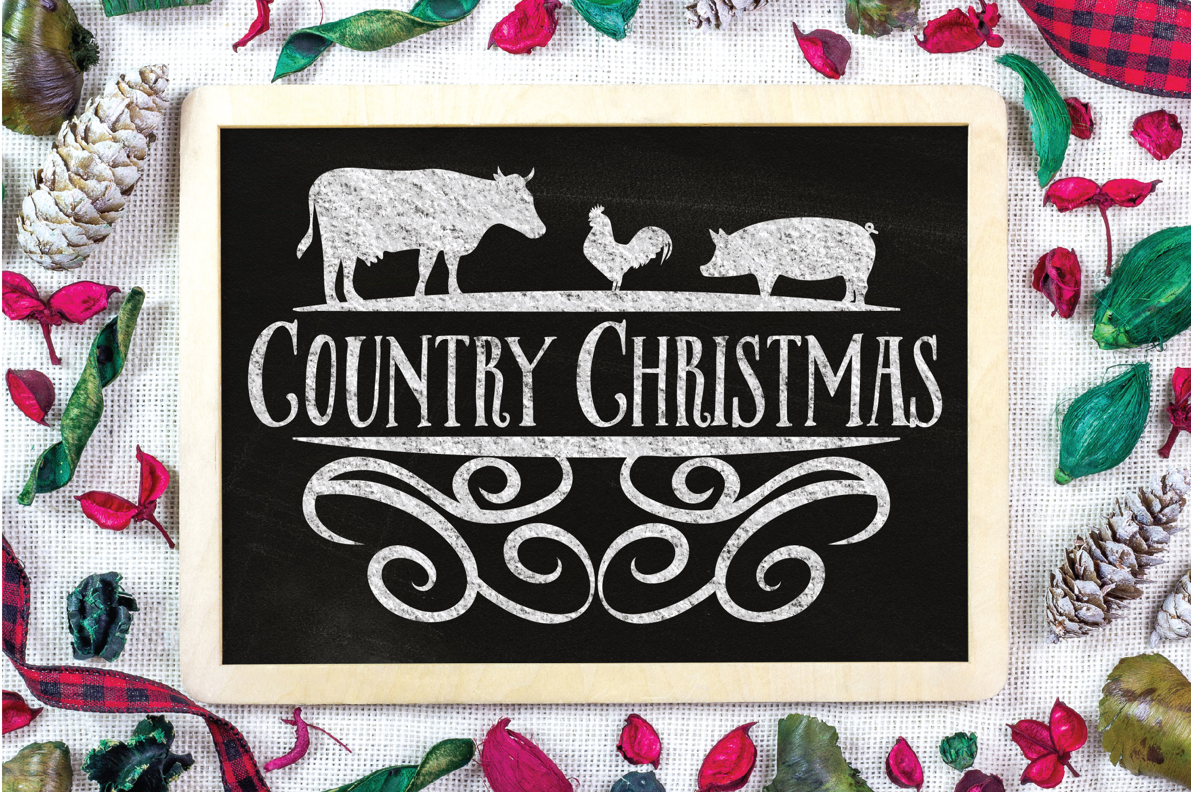 Christmas SVG Cut File - Country Christmas SVG DXF PNG EPS example image 2