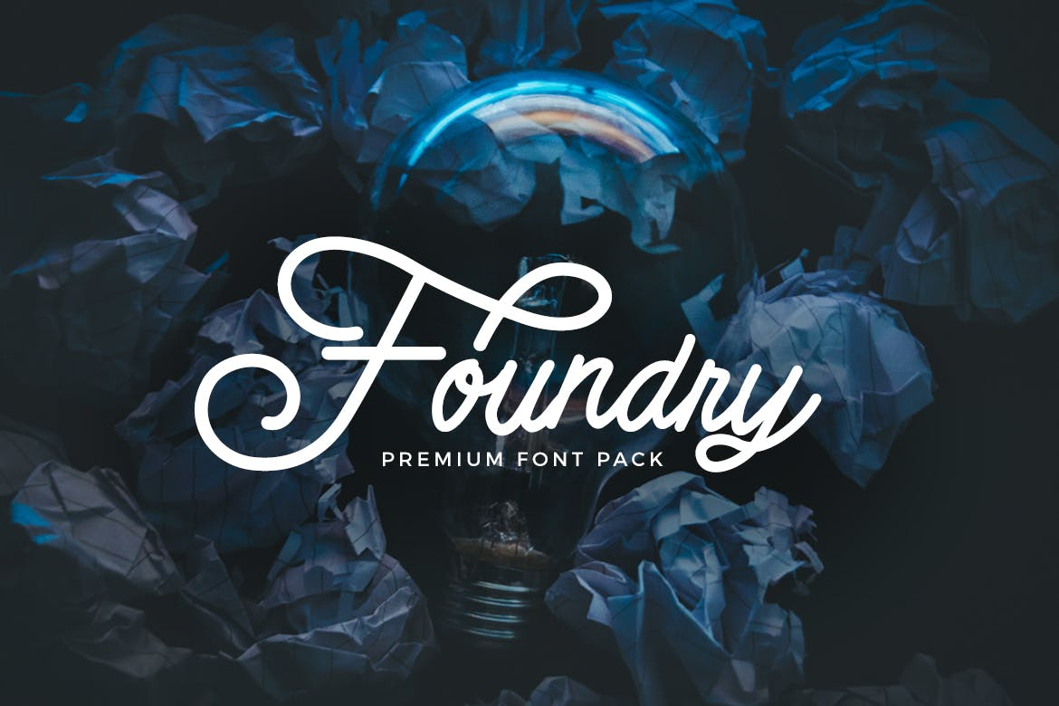 Foundry - font pack example image 1