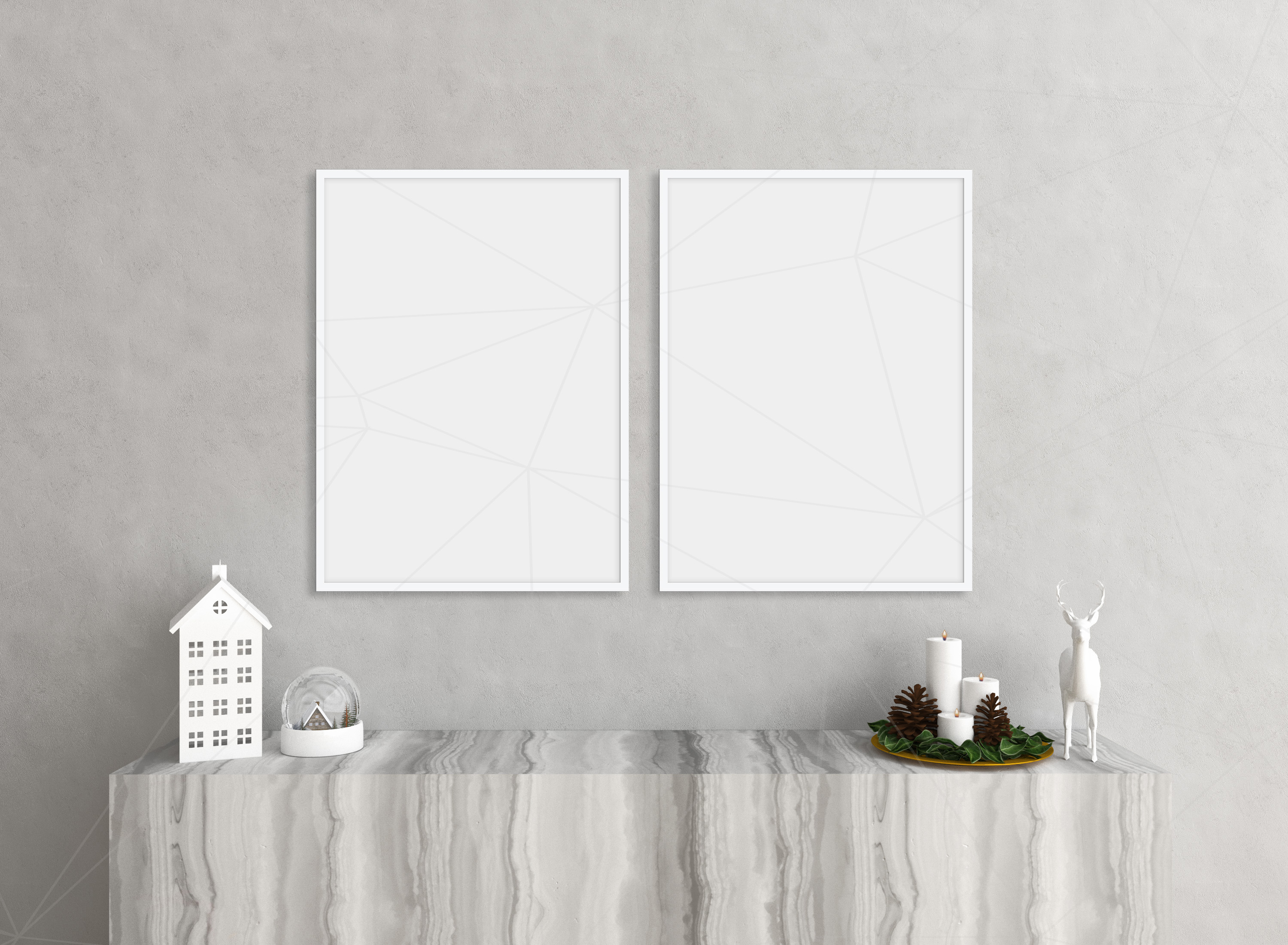 Christmas interior mockup bundle - blank wall mock up example image 3