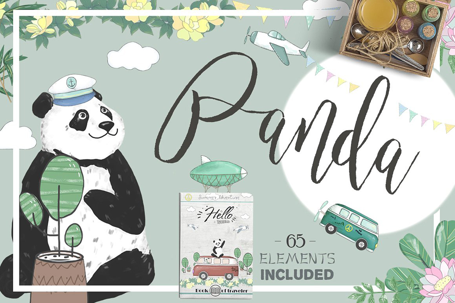 Pandas. Summer Adventure example image 1