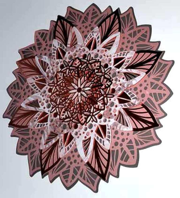 Download 3D Floral Mandala Multi Layered Mandala SVG Files for Cricut