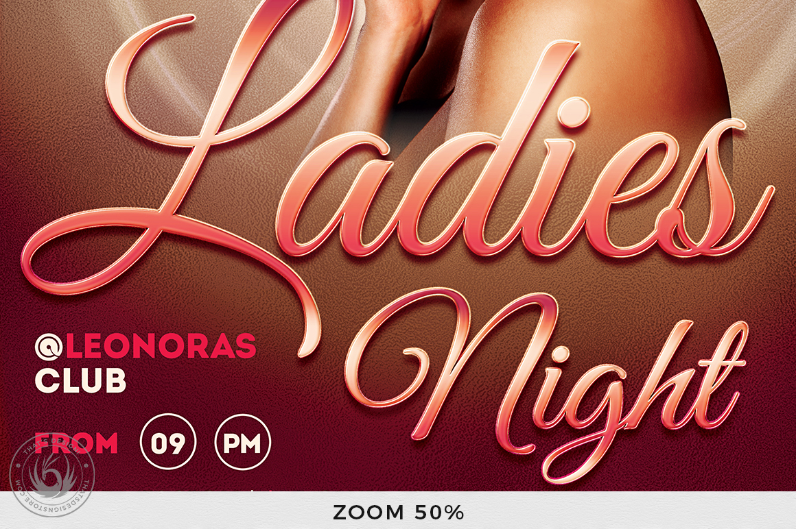 Sensual Ladies Night Flyer Template example image 8
