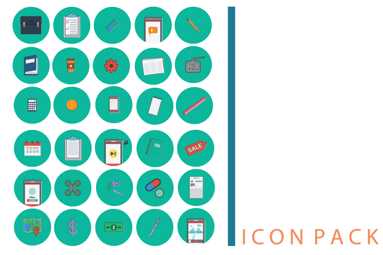 Media icon pack 60 example image 3