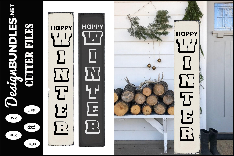 Happy Winter-Vertical SVG example image 1