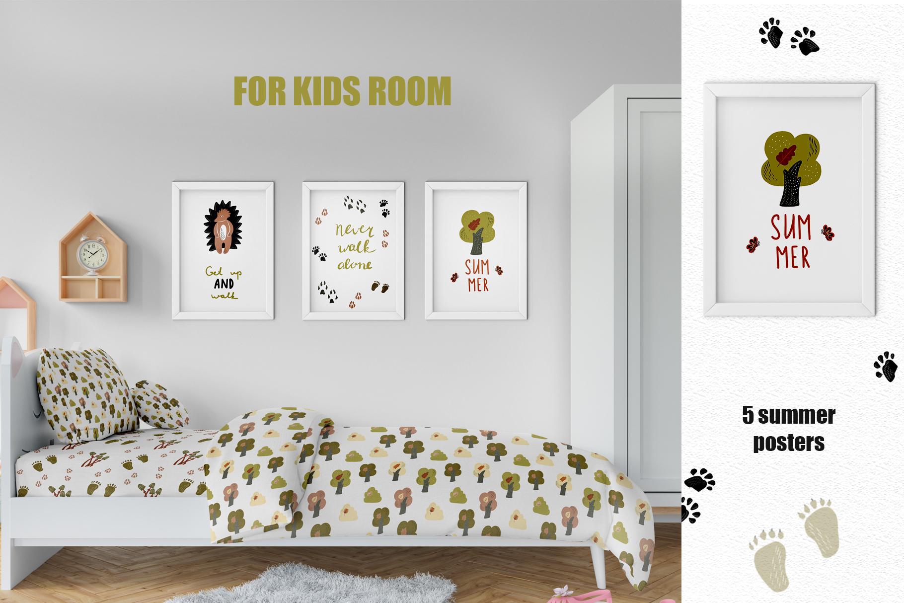 Summer Walk Kids vector clipart, vector baby nursery clipart example image 5
