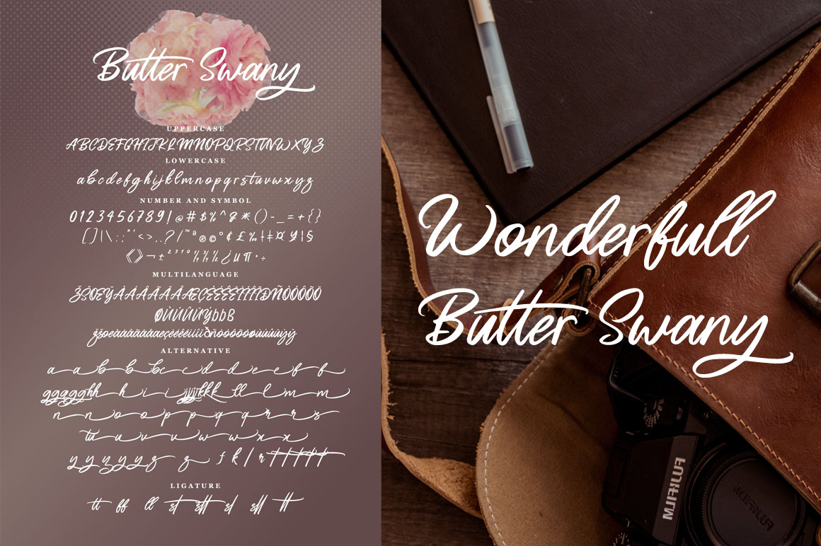 Butter Swany - Handwritten Font example image 8