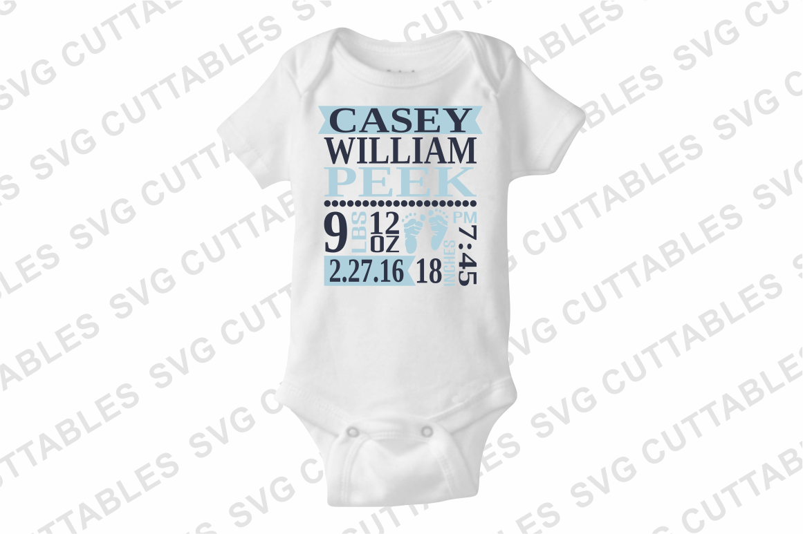 Baby Birth Announcement cut file example image 3