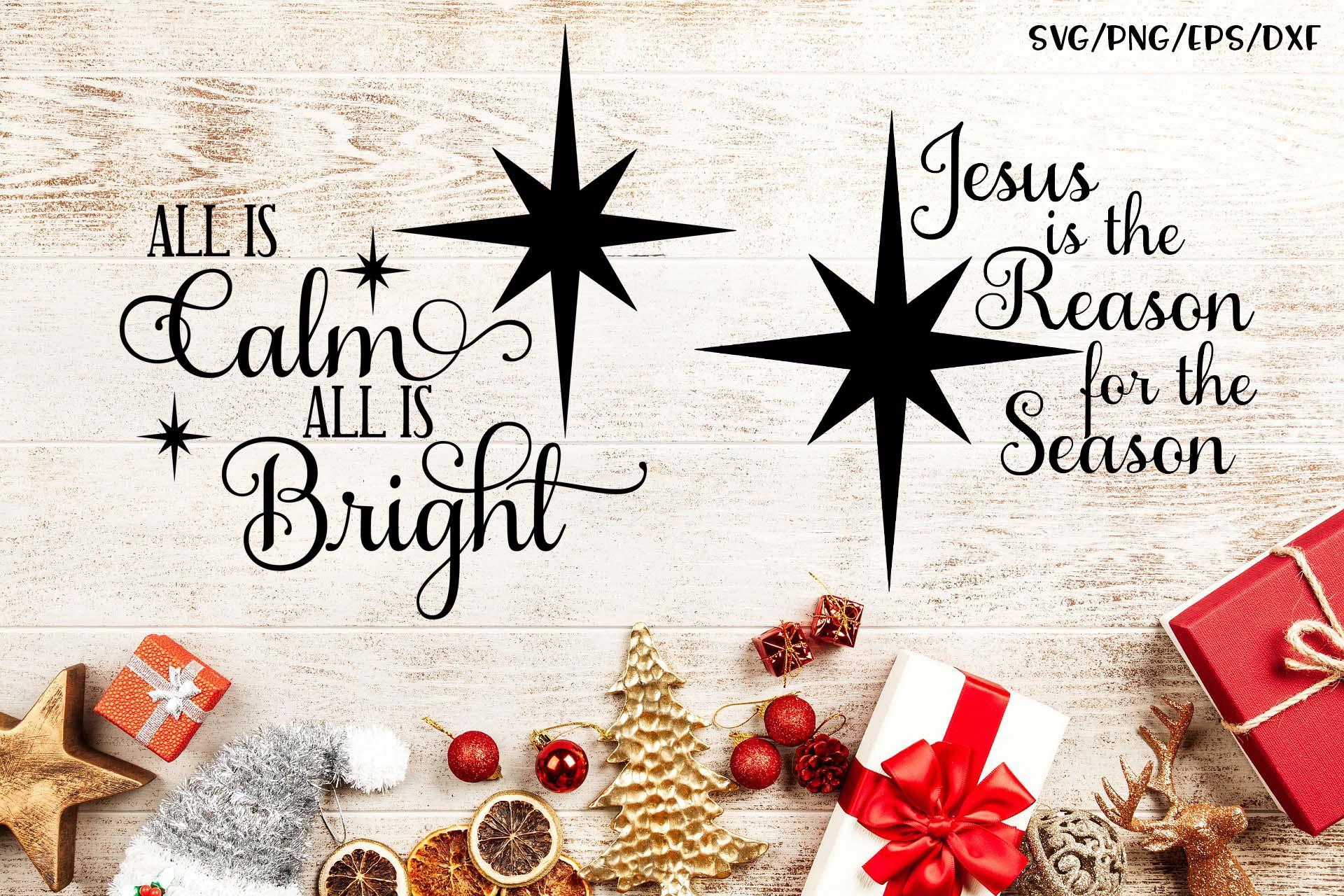 Christian Christmas SVG Set example image 1