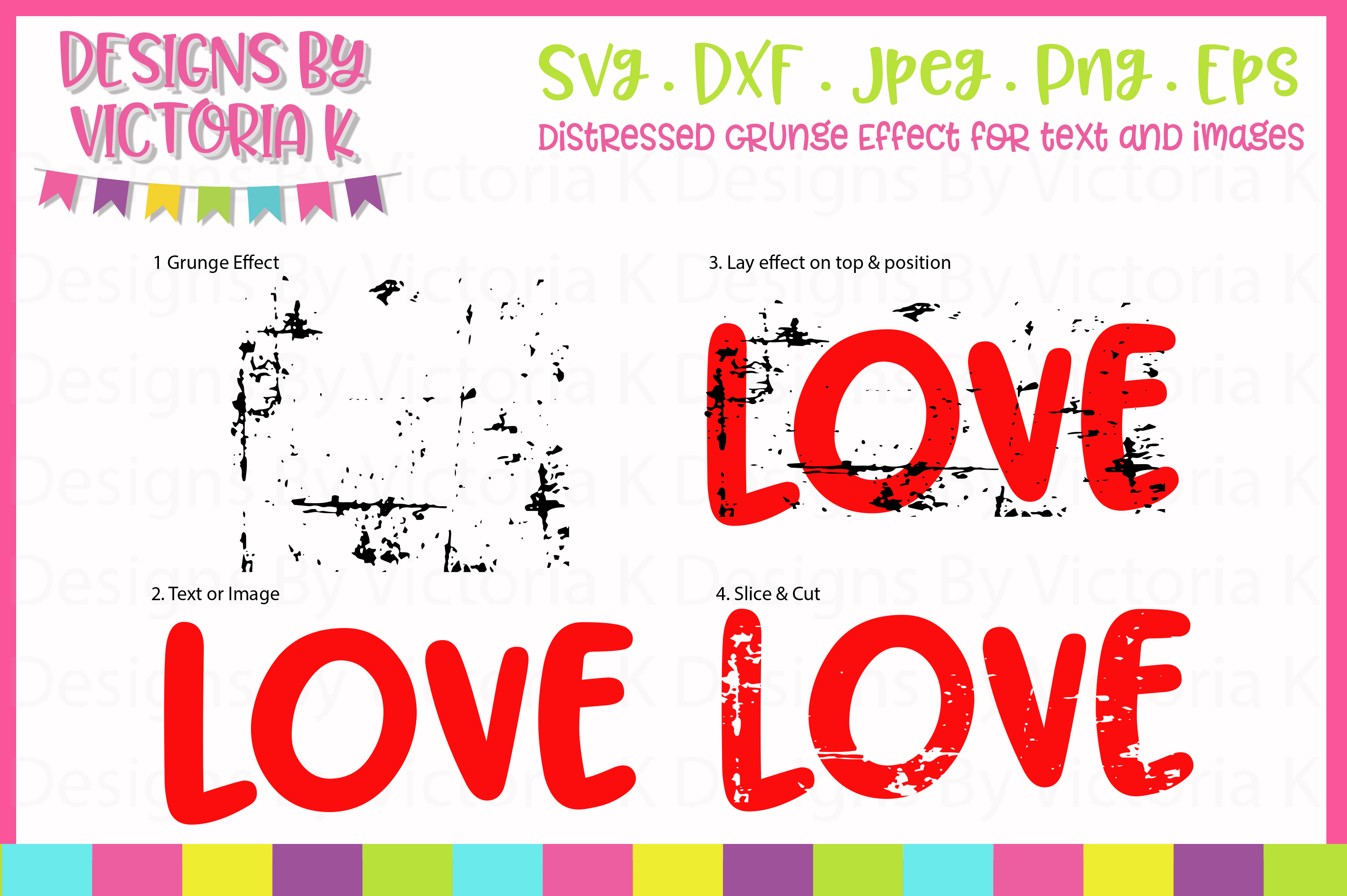 Grunge Effect, Distressed effect, SVG, DXF, PNG example image 2