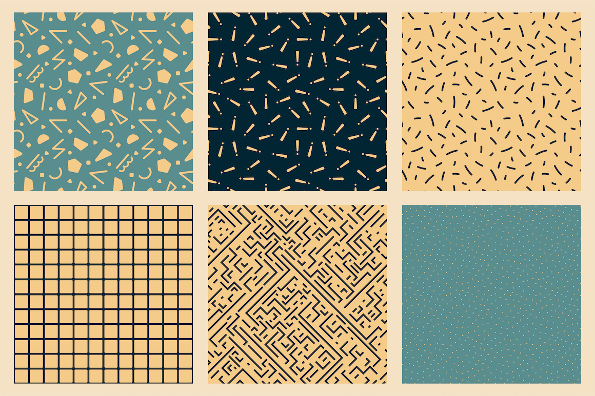 Trendy seamless abstract patterns example image 10