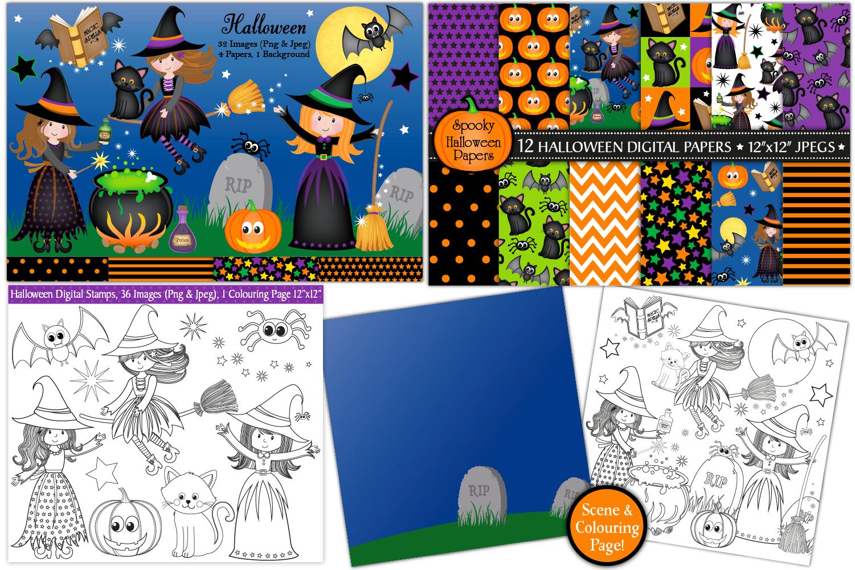 Halloween bundle, Halloween graphics & Illustrations example image 3