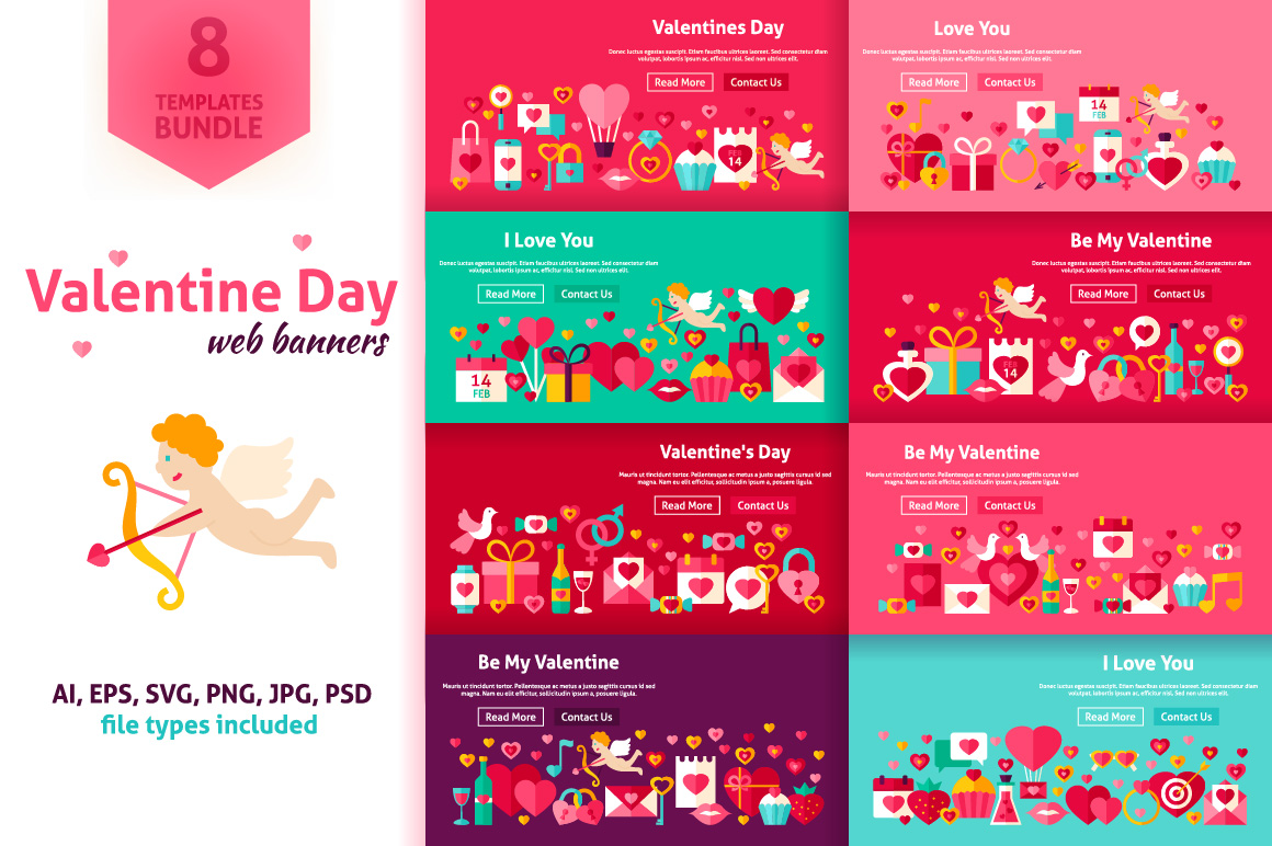 Valentine's Day Website Banners example image 1