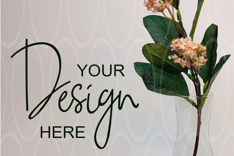 Blank Glass vase mockup Mockup Minimalism mock up example image 1