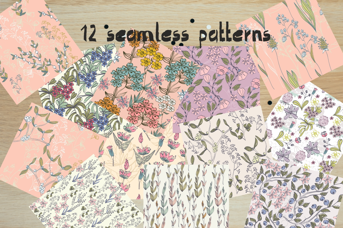 Spring floral patterns example image 2