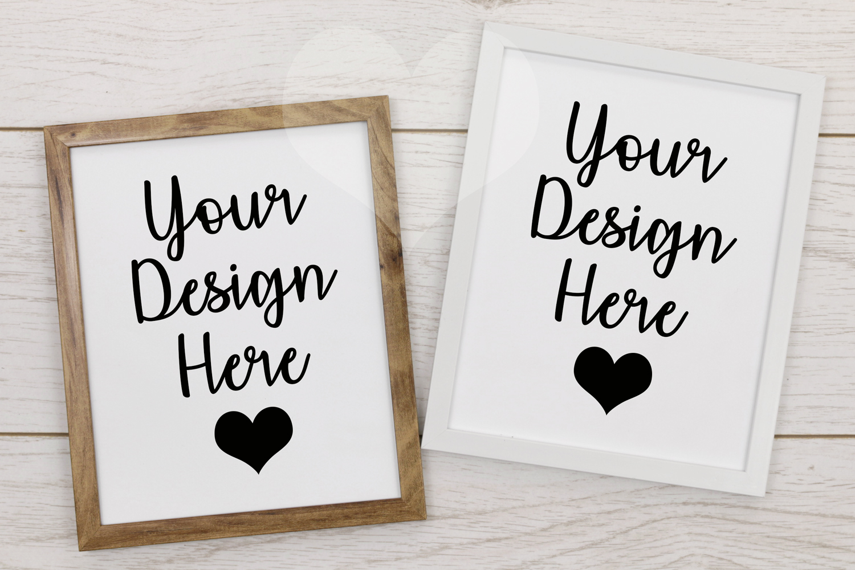 Styled Frame Mockup, Double Frame Mockup, Styled Stock Photo example image 1