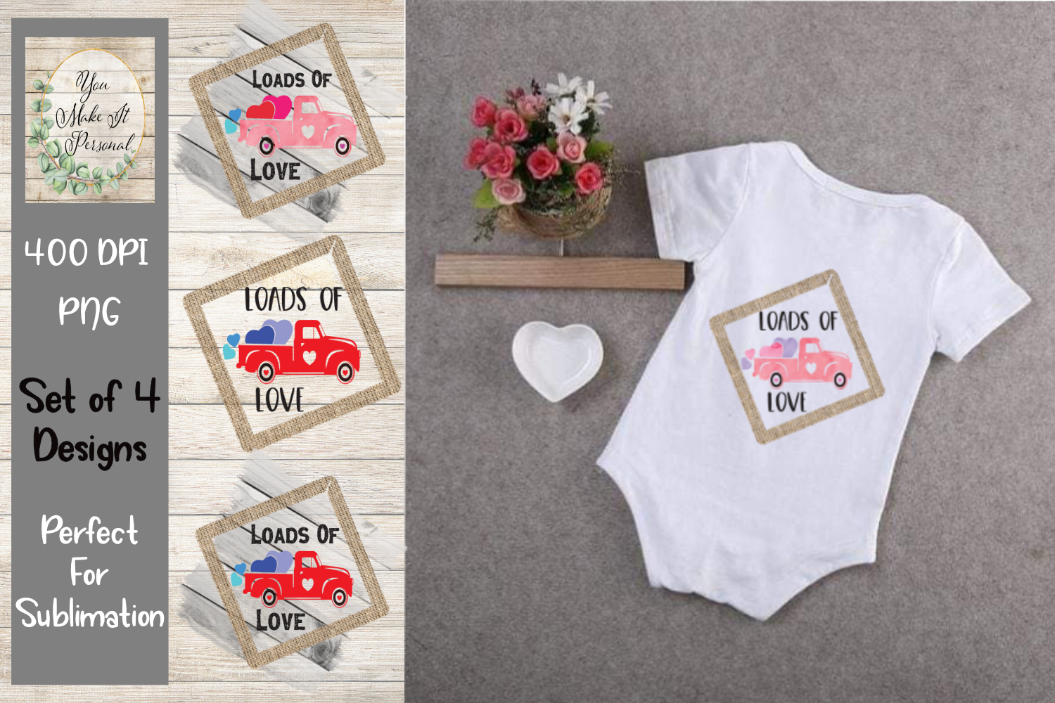 Loads Of Love - Design Bundle - Rustic Trucks example image 3
