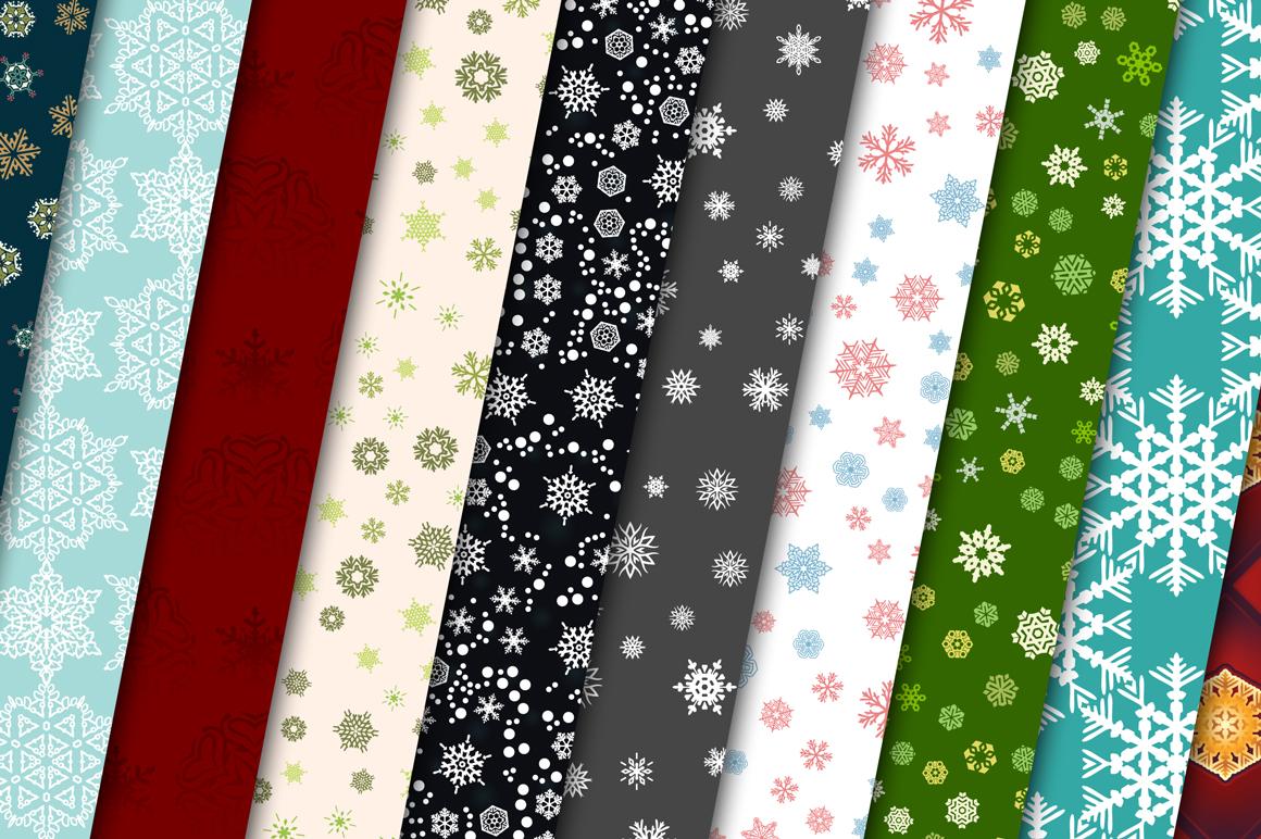 100 Snowflake Seamless Patterns example image 9