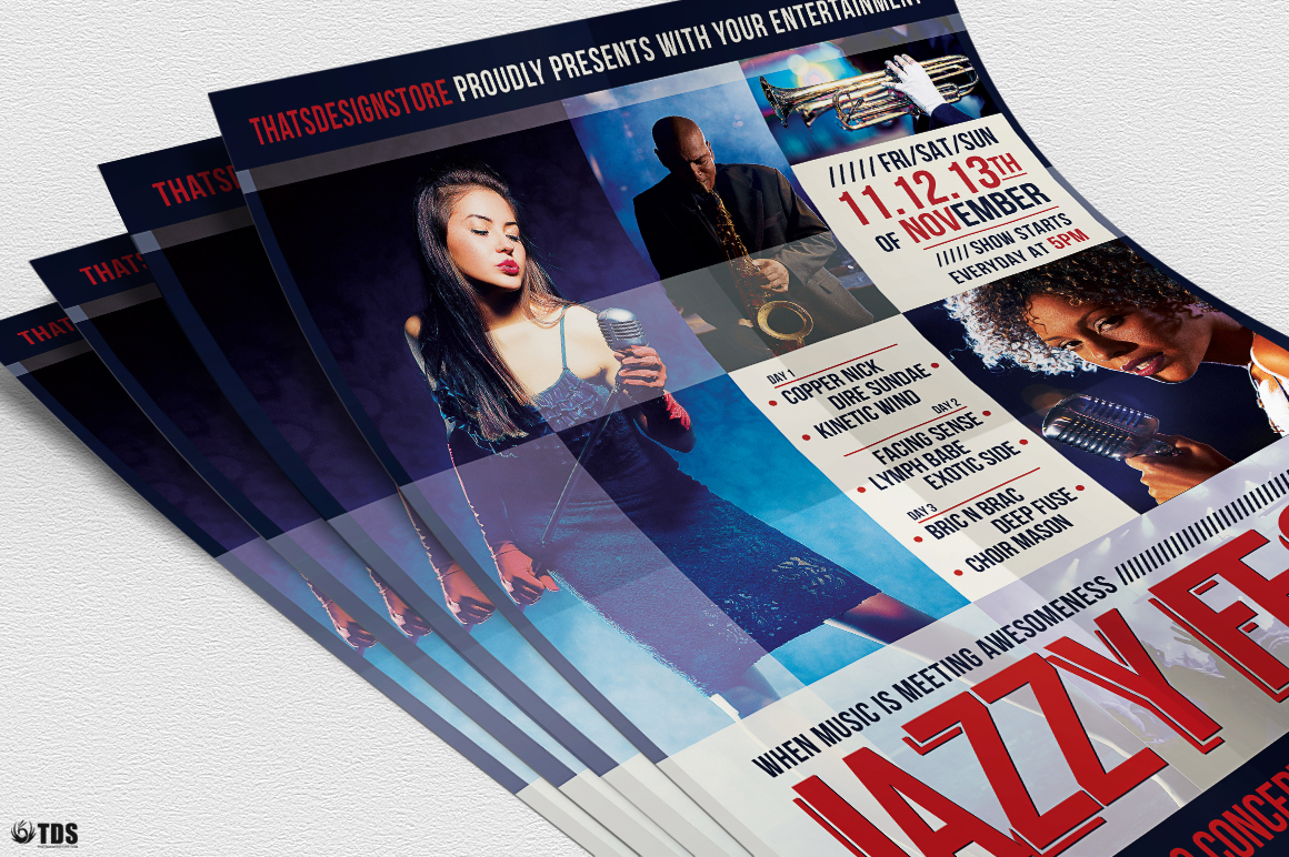 Jazzy Fest Flyer Template V1 example image 5