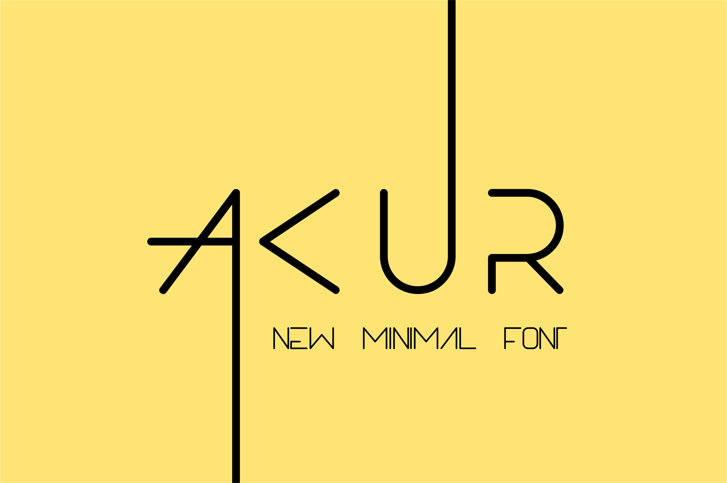 Akur font example image 1