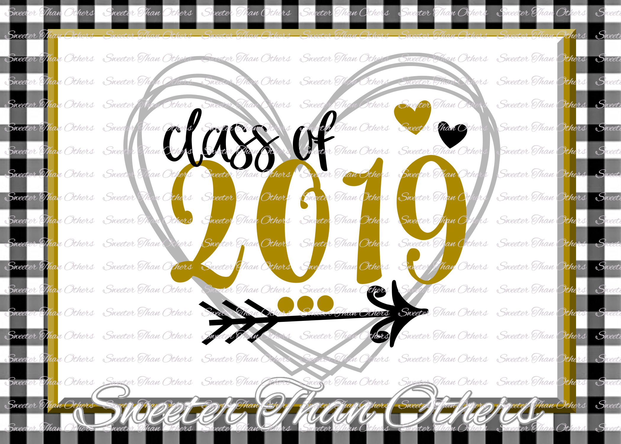 Senior SVG ,Class of 2019 Cut file, Svg example image 1