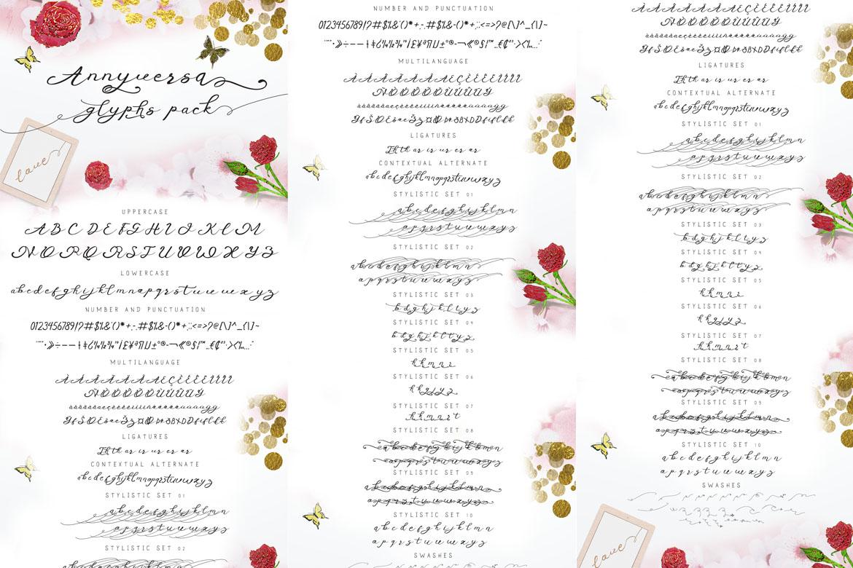 Anniversa Wedding Font example image 5