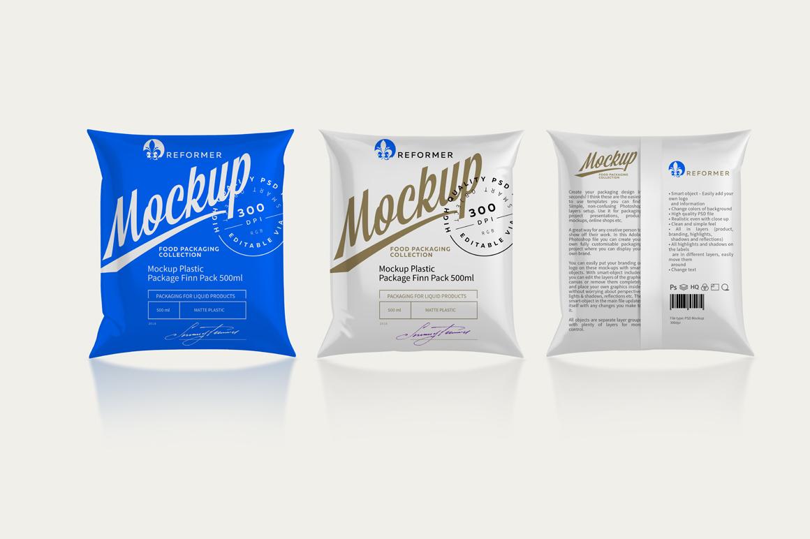 Mockup Package Finn Pack 500ml example image 4