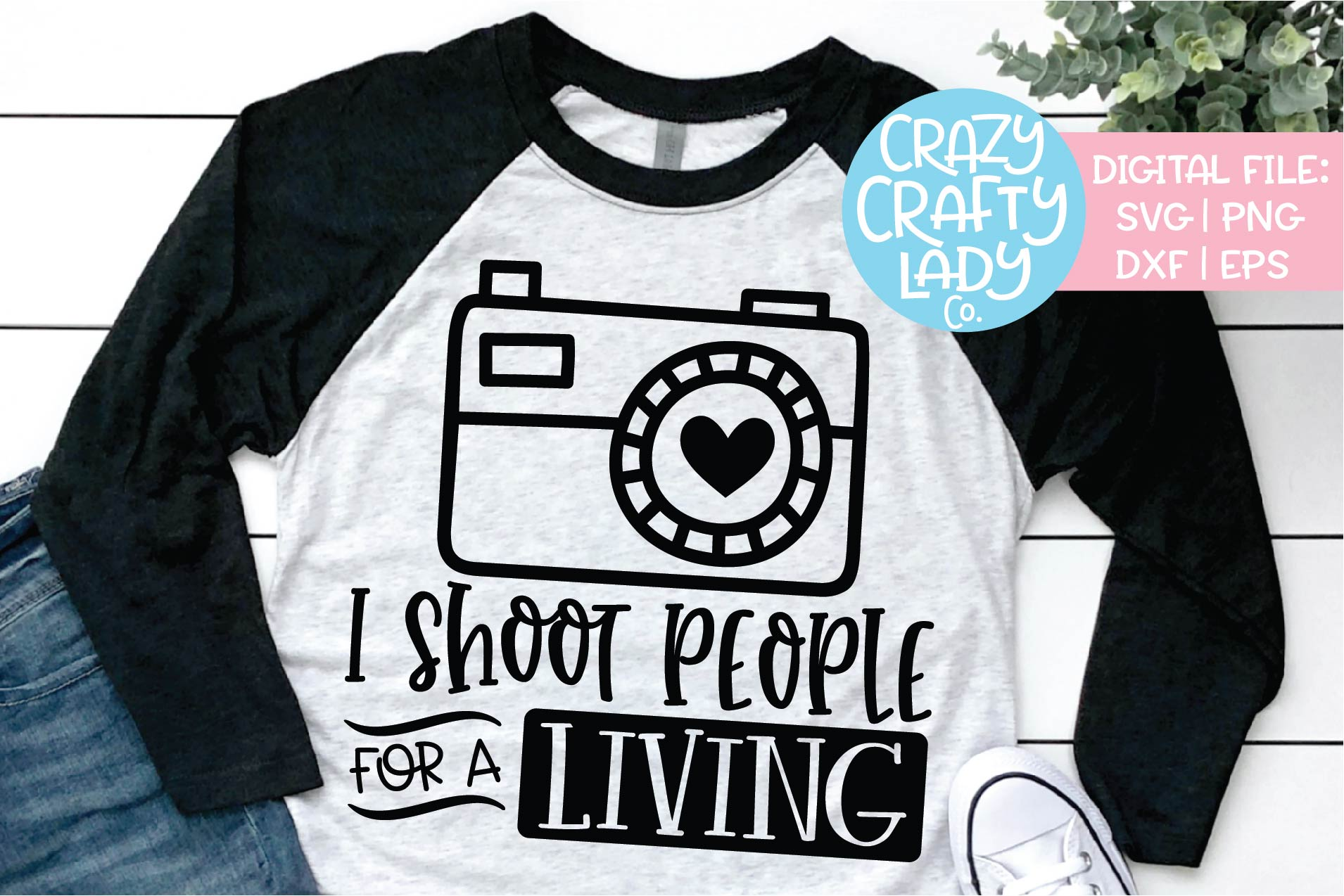 I Shoot People for a Living Camera SVG DXF EPS PNG Cut File example image 1