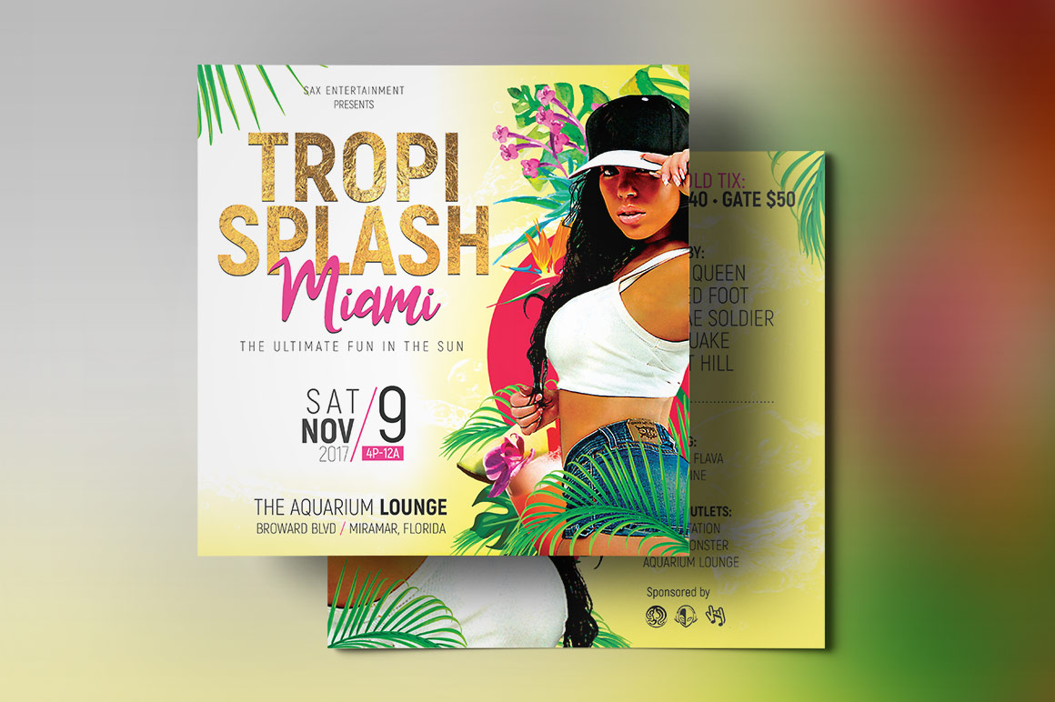 Tropical Party Small Flyer Template example image 3