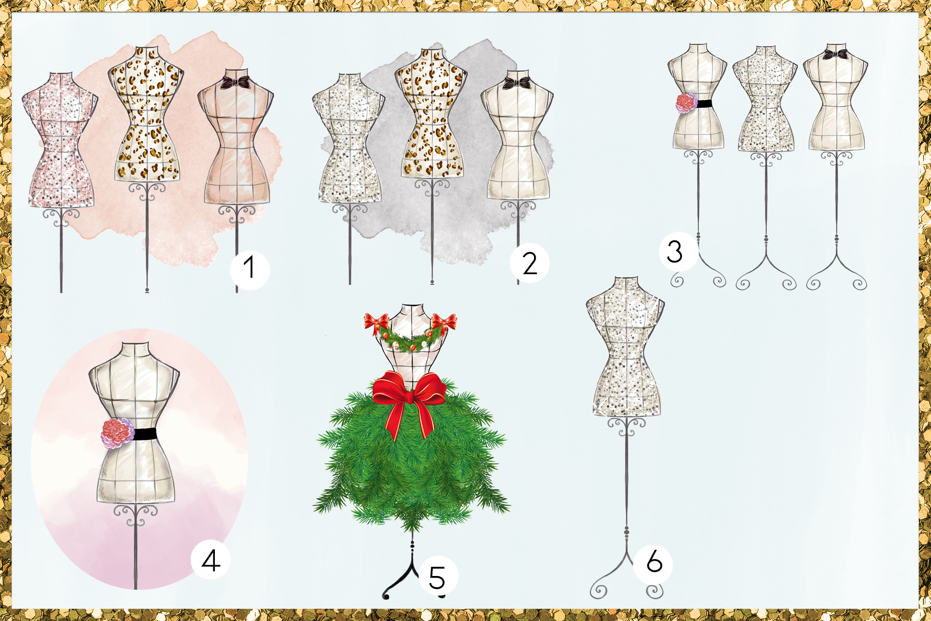 Fashion Png Cliparts - Mannequins - 19 png files on transpar example image 4