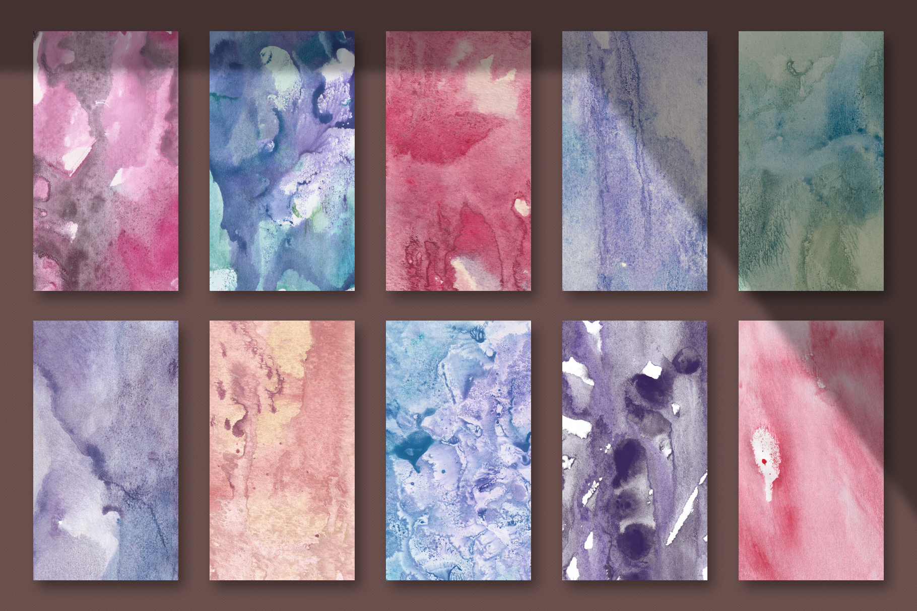 Seamless Watercolor Textures - 10 Watercolour Backgrounds example image 3