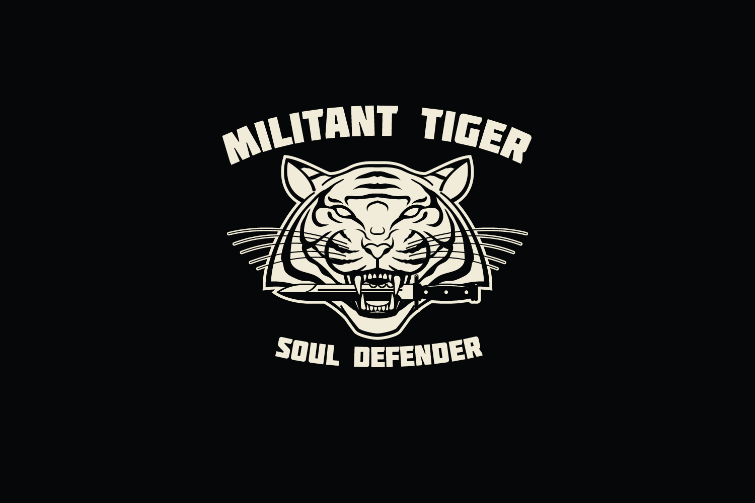 Militant Tiger Logo Template example image 5