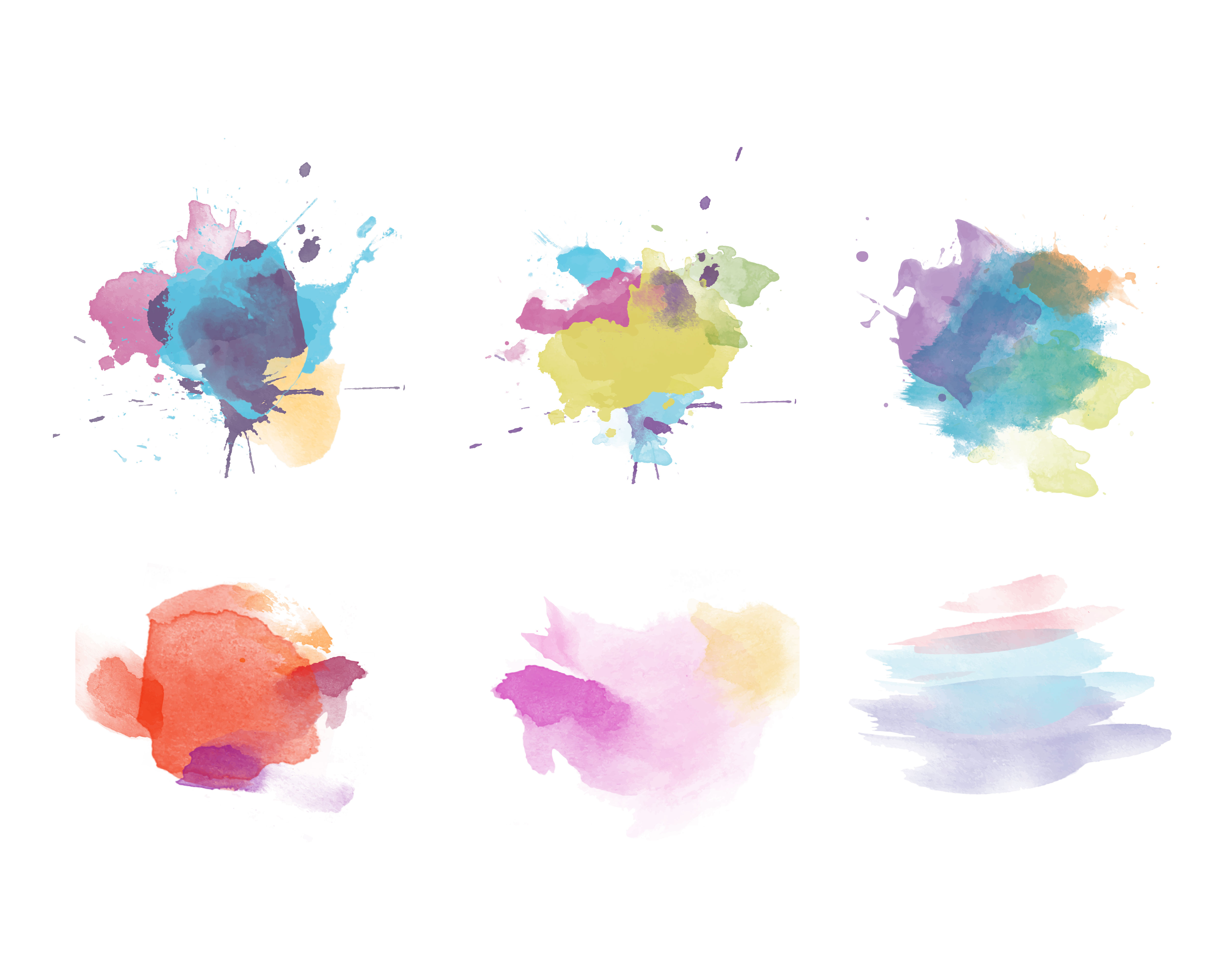 Hand painted watercolor template vector background (39485 ...