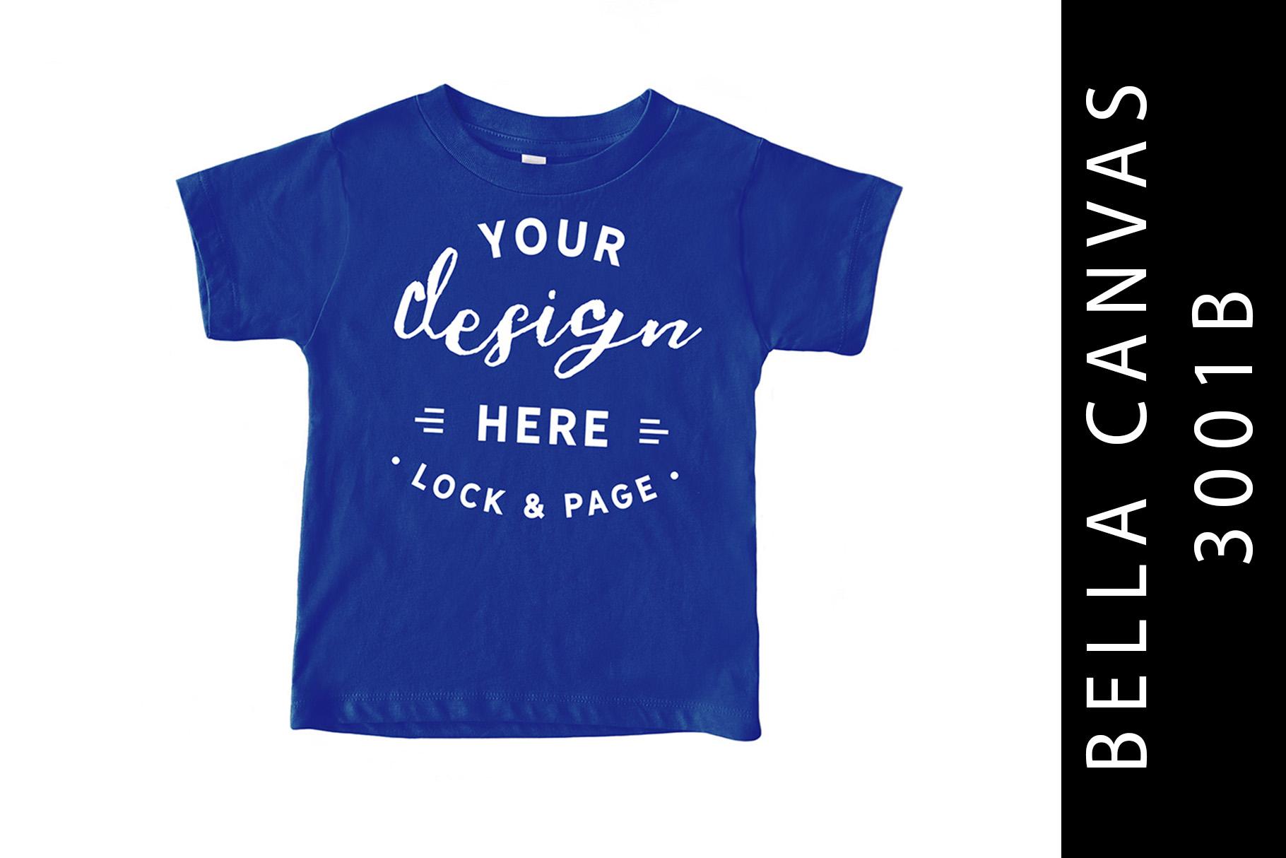 True Royal Kids Bella Canvas 3001B T-Shirt Mockup Toddler example image 1