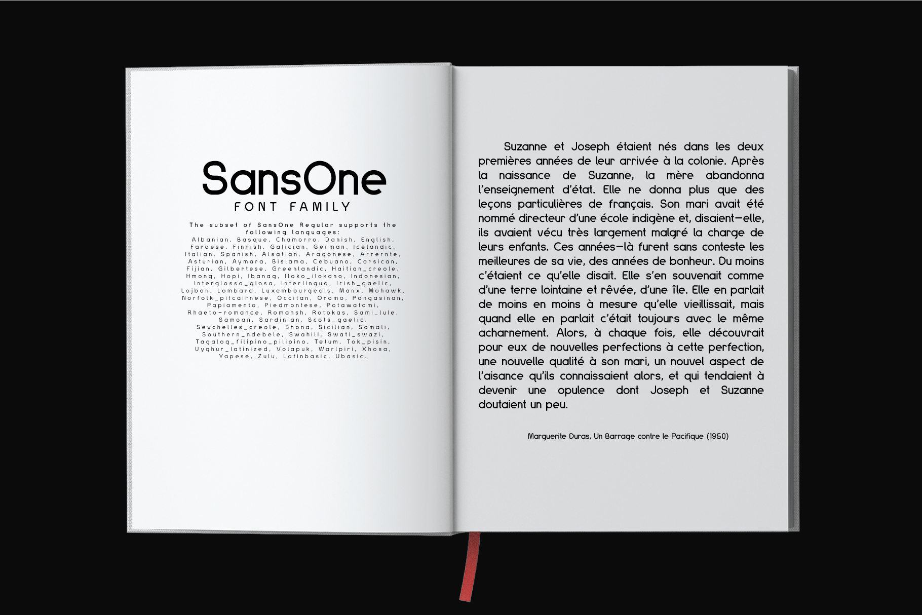 Sans One Font family example image 6