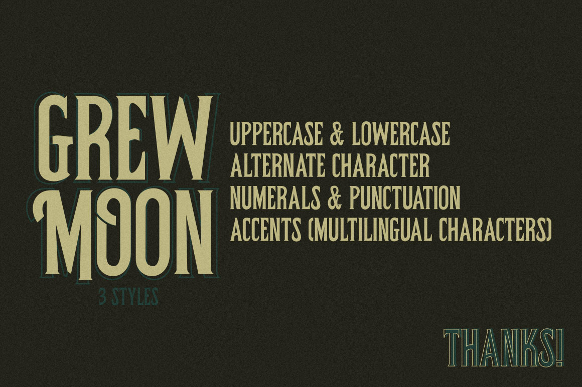 Grewmoon Fonts example image 7