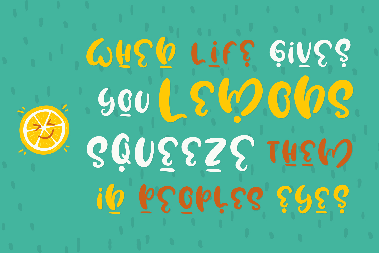 Water Lemon cute font example image 2