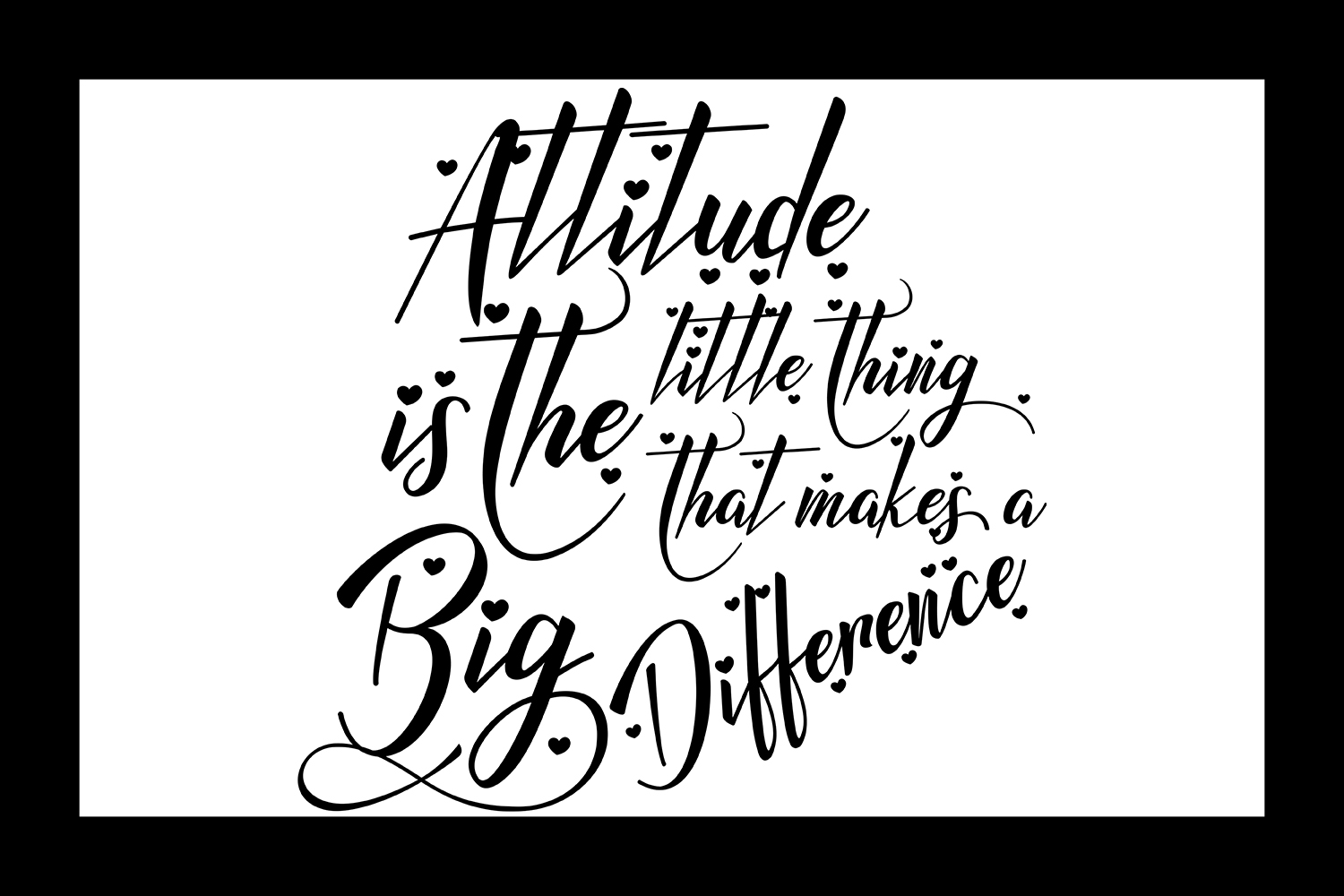 Inspirational Quote - Attitude is the Little Thing that Makes a Big Difference example image 2