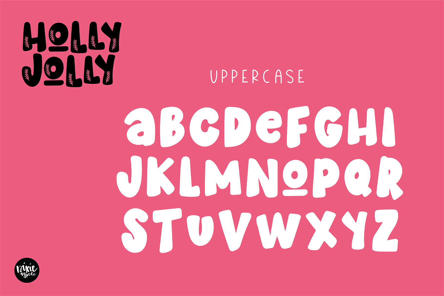 HOLLY JOLLY a Bold Christmas Font example image 4