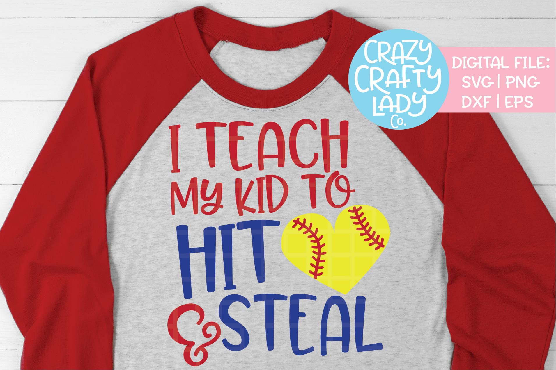 I Teach My Kid to Hit & Steal SVG DXF EPS PNG Cut File example image 1