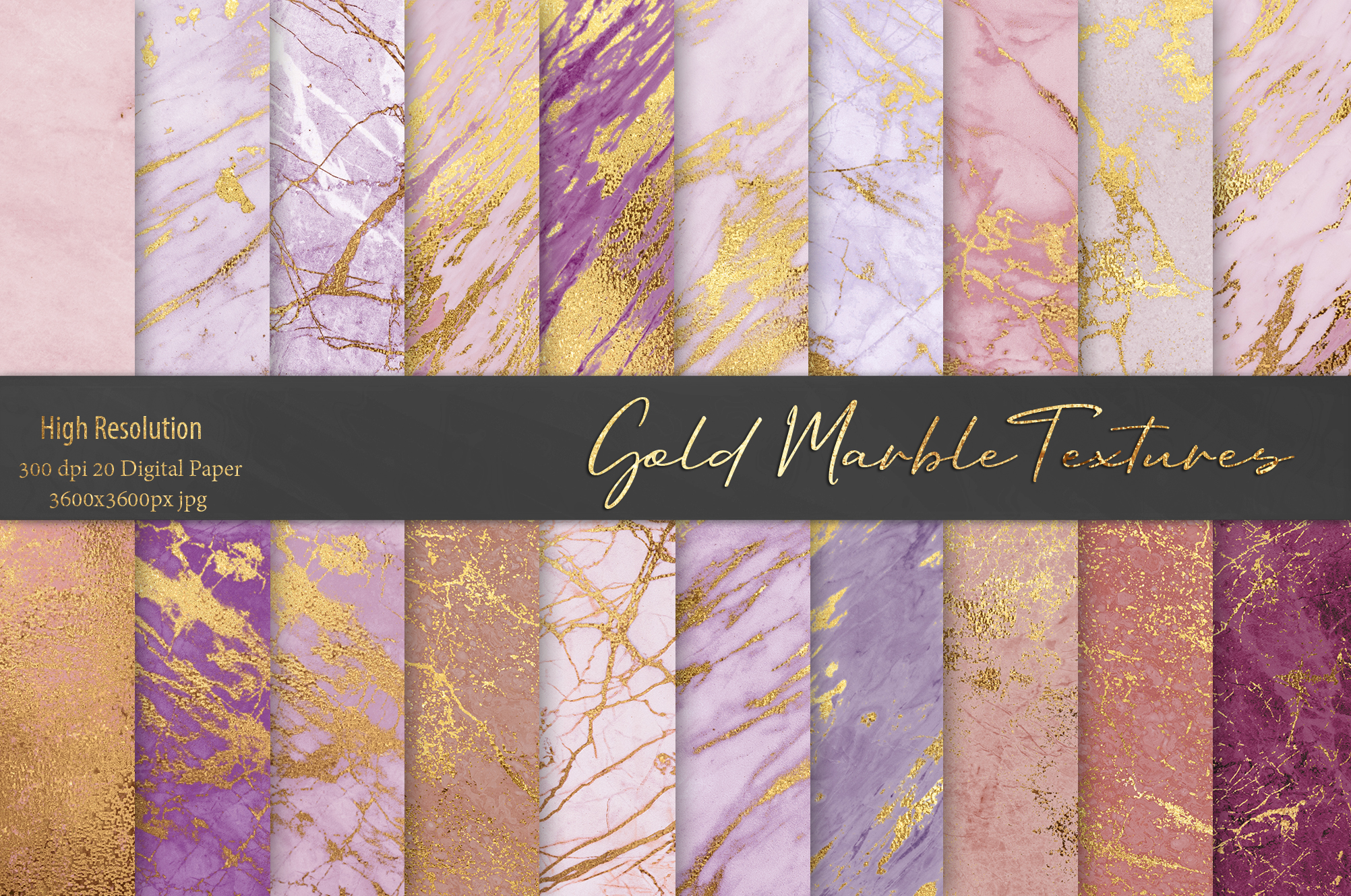 Rose Gold Marble Textures example image 1
